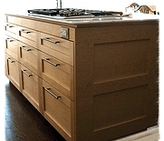 maple wood kitchen island cooktop