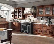 kitchen with brown wood doors